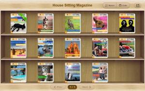 House Sitting Magazine Flipbook Bookshelf