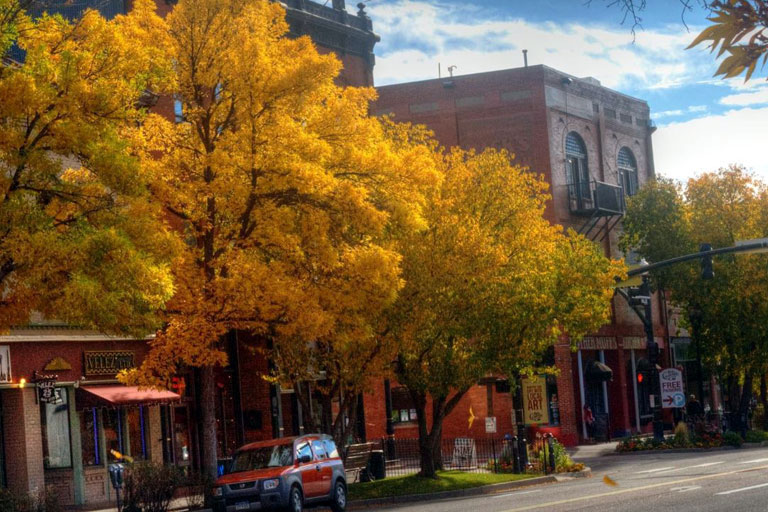 Downtown Colorado Springs in Fall