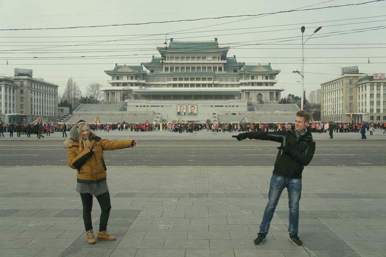 Agness & Cez in North Korea