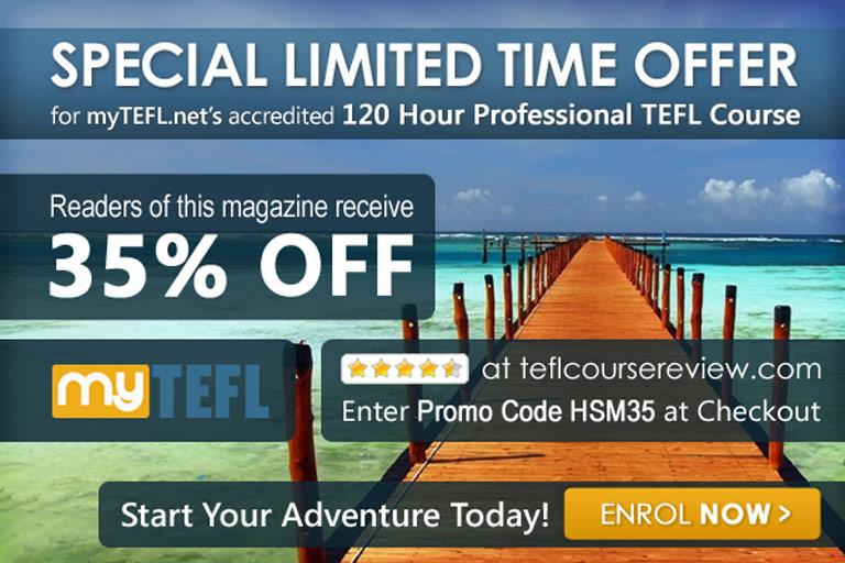 Get Your 35% MYTEFL discount code HSM35