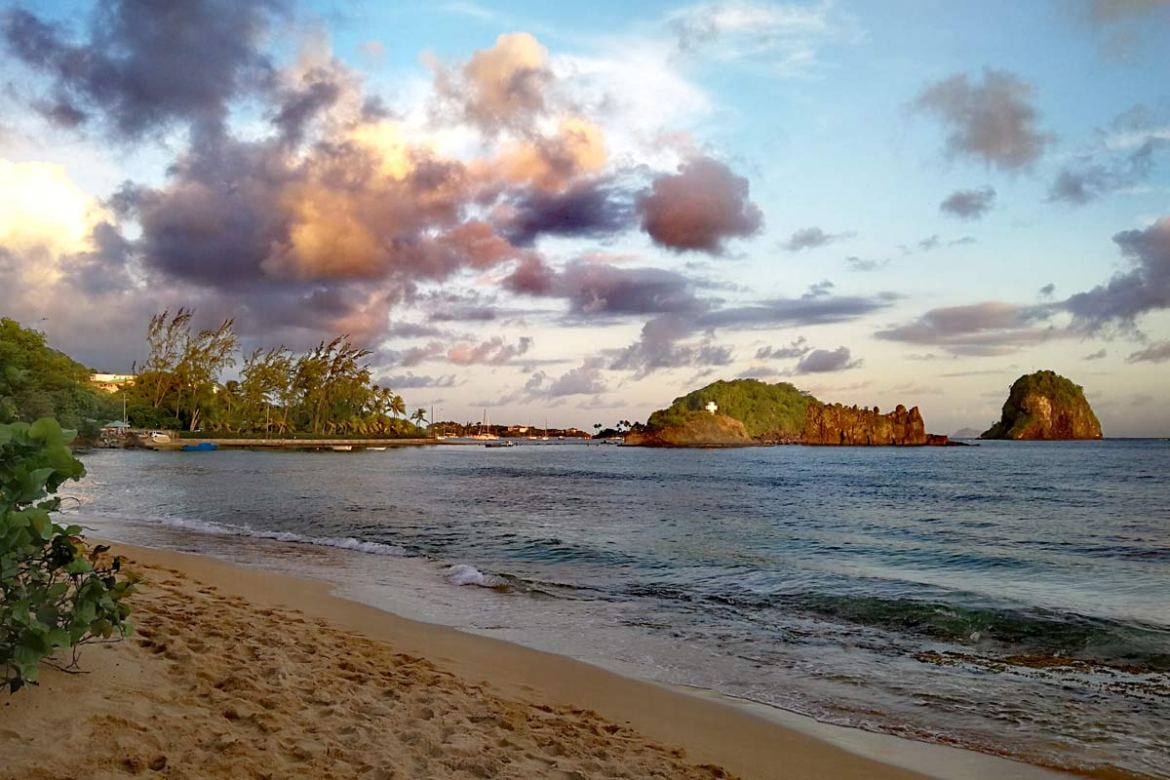 Beach view to Youngs Island St Vincent