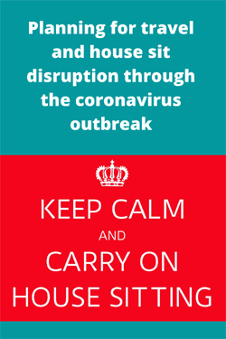 preparing for the coronavirus outbreak as a house sitter #housesitting #coronavirusdisruption #traveldisruption