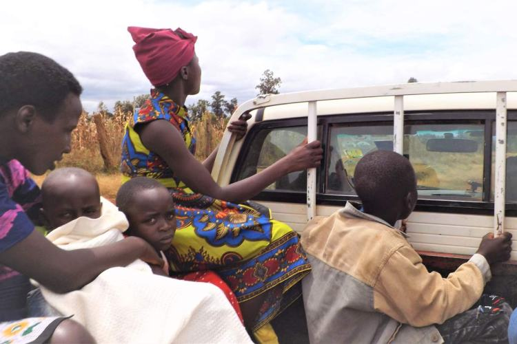 Getting a lift in Kenya
