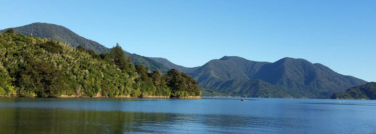 House sits in the Marlborough Sounds NZ