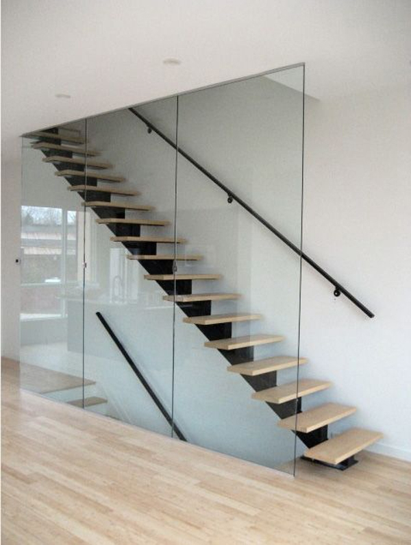 14 Glass Stair Railing Ideas For Your Home Housessive | Stair Railing Glass Panel | Tempered Glass | Wood | Stainless Steel Railing Systems | Base Shoe | Aluminum