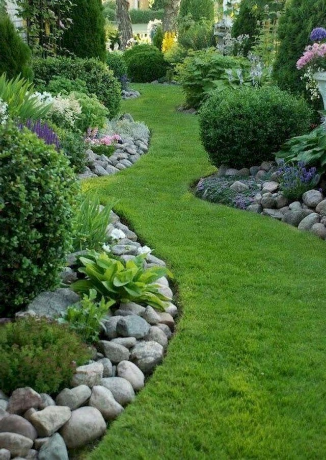 12+ Inspiring Simple and Cool Front yard Landscaping Ideas ...