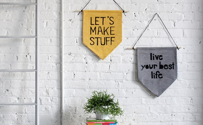 Diy Hanging Wall Banner Designs House Design And Decor