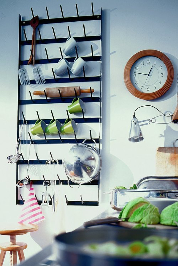 Mug Wall Kitchen Storage Ideas