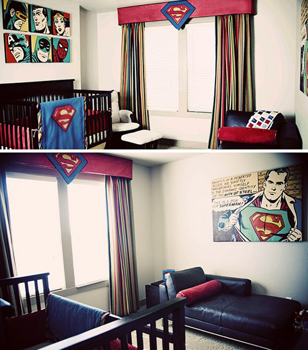 Superman Bedroom Decor Coolest Kids Bedroom With Superman