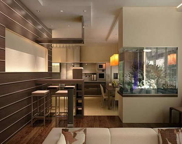 wall cabinet sizes for kitchen cabinets lighting options 20 modern aquarium design every interior | house ...