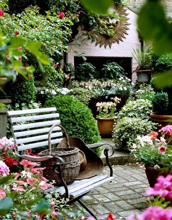 shabby chic garden romantic