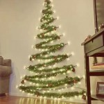 25 Simple And Creative Christmas Trees In The Wall