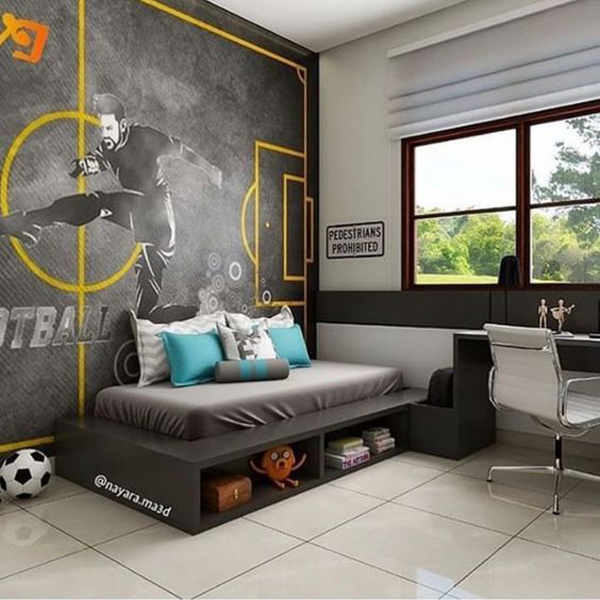 Cool Kids Soccer Bedroom Designs