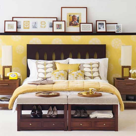 Chic mellow yellow bedroom | Bedroom ideas | PHOTO GALLERY | Ideal Home