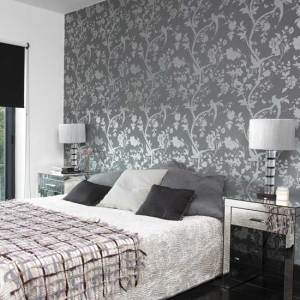 bedroom grey gray wall wallpapers paper silver designs bed nice walls pattern living modern colors floral