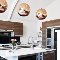 decordemon: COPPER PENDANT LIGHTS IN THE KITCHEN