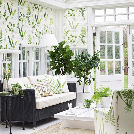 Botanical print conservatory | Conservatory decorating ideas - best of 2010 | Conservatorys | PHOTO GALLERY