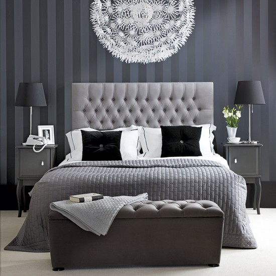 Monochrome chic bedroom | Bedroom ideas | PHOTO GALLERY | Ideal Home