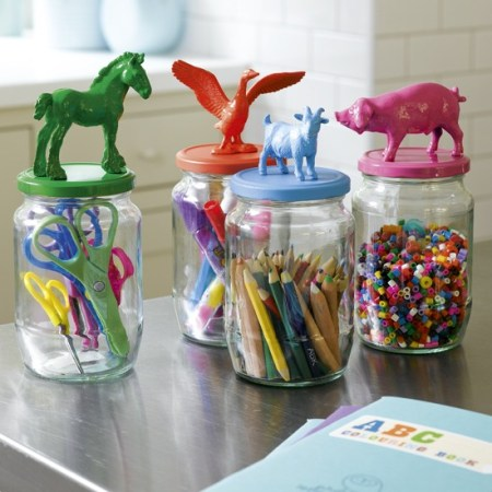Organise a crafts cupboard with glass jars   10 best kids' playroom storage ideas   childrens room ideas   design inspiration   housetohome