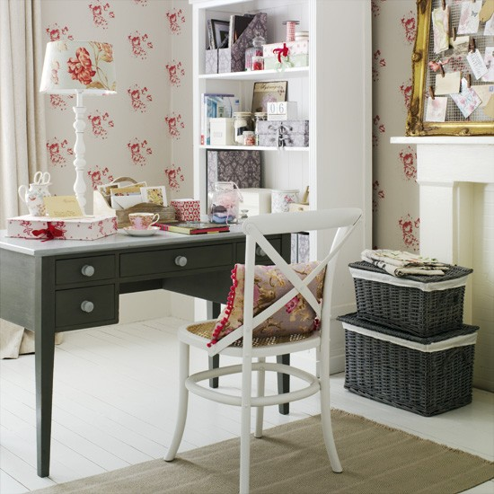Go for feminine country style | 5 clever ideas for home offices | home office ideas | decorating inspiration | housetohome