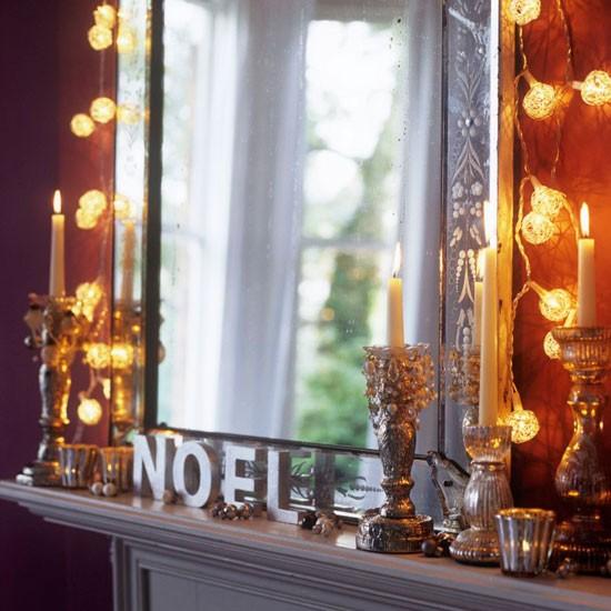 Opt for pretty fairy lights | Christmas mantelpiece ideas | Christmas decorating ideas | Christmas | PHOTO GALLERY | Homes & Gardens | Housetohome