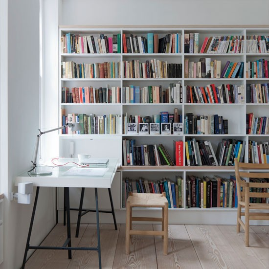 Home office with bookcase | Home office ideas | Home office | Livingetc | IMAGE | Housetohome.co.uk