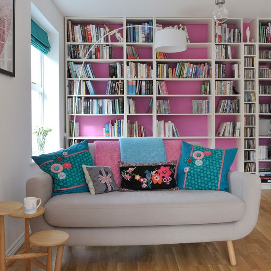 Colourful modern living room | Modern decorating ideas | Style at Home