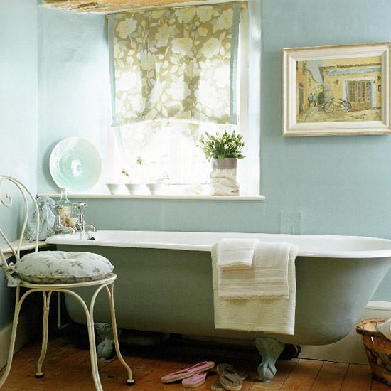 French country bathroom  Bathroom idea  Freestanding bath  housetohomecouk