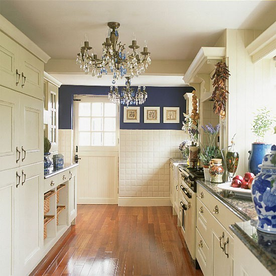white galley kitchen designs Blue and white galley kitchen | Kitchen design