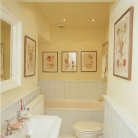 yellow white bathroom 2017 - Grasscloth Wallpaper