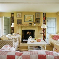Living room with country-style checks | housetohome.co.uk