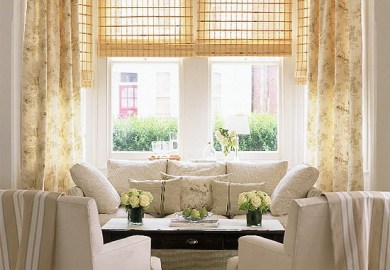 Cream Curtains Living Room