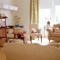 Living room with stylish office area | housetohome.co.uk