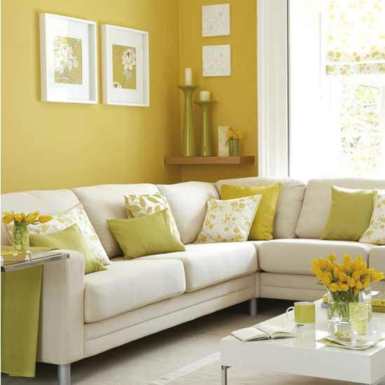Sunny yellow living room  Decorating ideas  housetohome