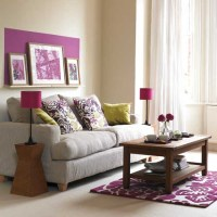 Living room with pruple accents | Living room furniture ...