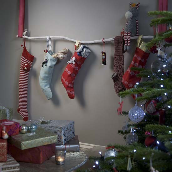Remodelaholic How To Hang Stockings Without A Mantel Hang Stockings Without A Fireplace | High-impact, Low