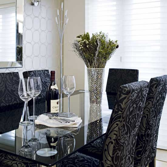 Damask dining room  Dining rooms  Decorating ideas