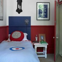 Classic red and blue boys' bedroom | Boys bedroom ideas ...