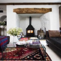 Wood-burning stove living room   housetohome.co.uk