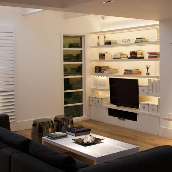 Living Room With Builtin Storage Housetohomeco