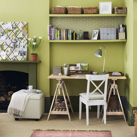 green home office Green home office | Home office | Design ideas | Image | housetohome.co.uk