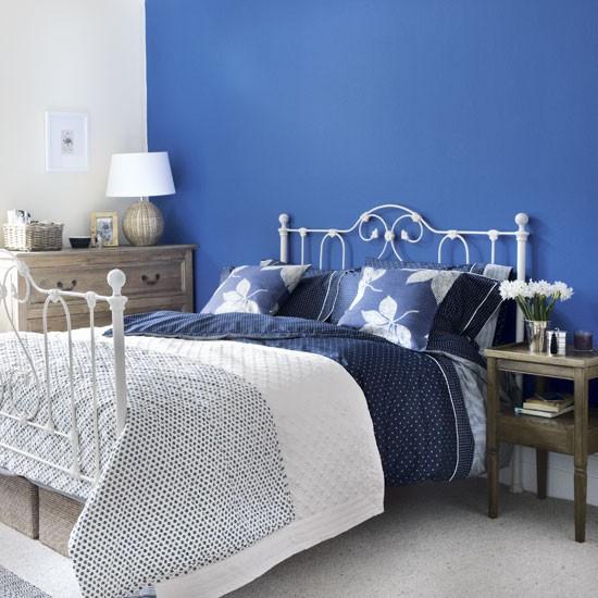 Blue bedroom  Decorating ideas  Blue bedroom  housetohomecouk