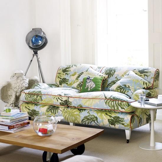 sofa wesley barrell sofast patterned living room   housetohome.co.uk