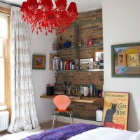 Bare-brick wall alcove | Teenage girls bedroom ideas ...