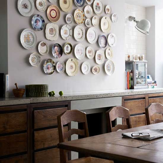 Dining room with eclectic display  Wall displays  Image