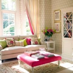 Pink Sofa Browse Uk Roche Bobois Mah Jong Modular Preis Crisp White Living Room With Fuschia Accents