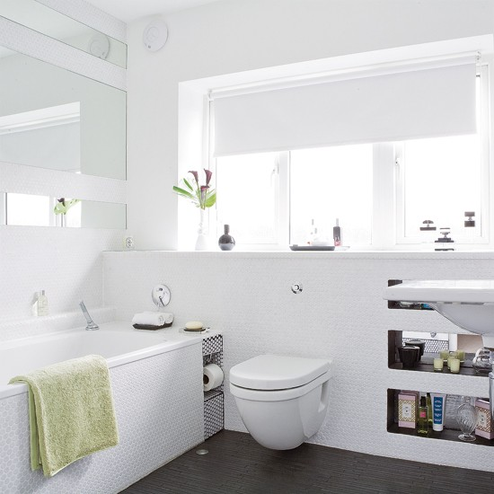 White textured bathroom  Bathroom tiles  Textured tiles