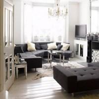 Elegant monochrome living room | Black and white living ...