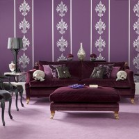 Bold purple living room