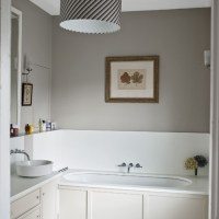 Pale grey bathroom with traditional fittings and fixtures ...